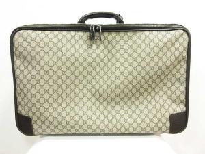 グッチ GUCCI オールドグッチ トランクケース バッグ シェリーライン GG柄 トラベル 旅行鞄 ユニセックスの買取実績