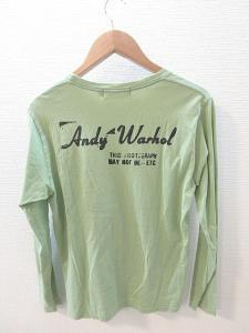 アンディウォーホル バイ ヒステリックグラマー ANDY WARHOL by HYSTERIC GLAMOUR Tシャツ カットソー 長袖 プリント 黄緑 M 春夏の買取実績