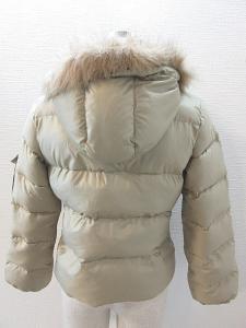 アディダス adidas ダウン ジャケット ミドル フェイクファー 国内正規 うぐいす色 M 秋冬の買取実績