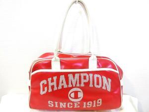チャンピオン CHAMPION ミニ ボストン バッグ プリント ロゴ 赤 レッドの買取実績