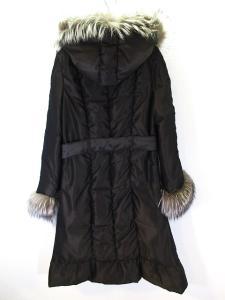 ランバン LANVIN COLLECTION 美品 ダウン コート ジャケット フォックスファー フーディ ベルト ダークブラウン 38 レディースの買取実績