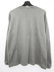 未使用品 チャンピオン CHAMPION ドライコンディション カットソー Tシャツ 長袖 リブ クルーネック M グレー メンズの買取実績