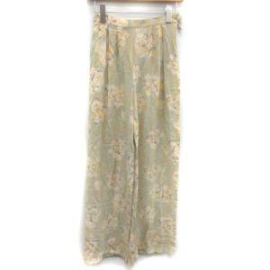 シャネル CHANEL ヴィンテージ 98C ワイドパンツ ココボタン 花柄 パステルカラー 36 緑の買取実績