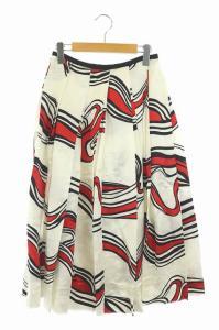 ブラミンク BLAMINK 18SS 総柄プリーツスカート 36 ホワイトの買取実績