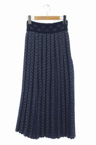 マメクロゴウチ  Mame Kurogouchi 20AW Pleated Knitted Skirt スカート ロング ニット 総柄の買取実績