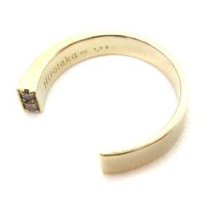 ヒロタカ Hirotaka Diamond Cuff Ring ピンキーリング 指輪 K10 ダイヤモンド 0.02ctの買取実績