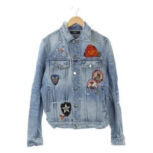 アミリ AMIRI ワッペンデニムジャケット ダメージ加工 バックプリント ブルーの買取実績