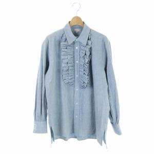 ブラミンク BLAMINK 19AW ダンガリーラッフルシャツ 36 ブルーの買取実績