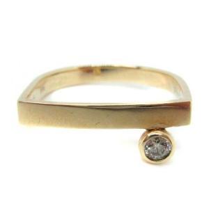 ヒロタカ Hirotaka 指輪 リング K10YG ダイヤモンド 0.06ctの買取実績