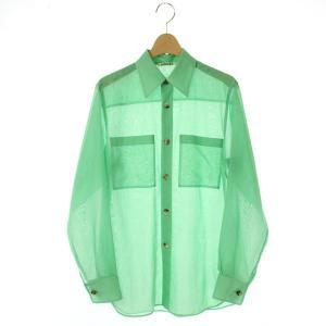 オーラリー AURALEE WOOL RECYCLE POLYESTER SHEER CLOTH SHIRT シャツの買取実績