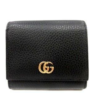 グッチ GUCCI GGマーモント 二つ折り財布 ブラック 598587の買取実績