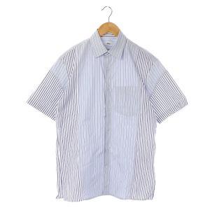 アレッジ ALLEGE ×THOMAS MASON 18SS Switch stripe s/s shirt シャツ ブルーの買取実績