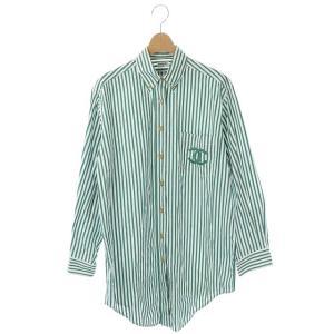 シャネル CHANEL ヴィンテージ オーバーサイズシャツ ココマーク ストライプ 金ボタン ストライプの買取実績