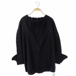 アキラナカ AKIRA NAKA 21SS ドローストリングネックシャツ ブラックの買取実績