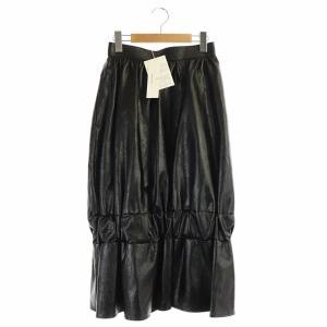 アキラナカ AKIRA NAKA 20AW シャーリングスカート ブラックの買取実績